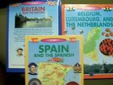 Lot of 3 Focus on Europe Series  (2004, Library Bound) FREE SHIPPING!!!!