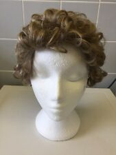 LADIES SHORT CURLEY Curly Wig GREY Red Brown