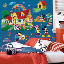 Large 3D Wall Sticker Mickey Mouse Clubhouse PVC Decal Baby Nursery Decor Mural