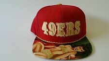 MITCHELL AND NESS NFL SAN FRANCISCO 49ERS  CUSTOM SNAPBACK CAP, HAT: SWEETY