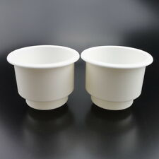 2PCS Distinctive Tiered White Plastic Cup Drink Can Holder Boat RV Universal