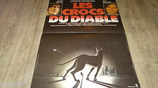 LES CROCS DU DIABLE !  chien doberman : affiche cinema 1976