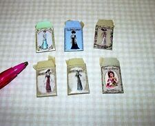 "Miniature ""Dragonfly"" 6 Victorian Pattern Envelopes in Color:  DOLLHOUSE 1/12"