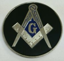 Freemason Masonic car emblem Black and Silver