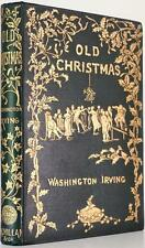 1876 OLD CHRISTMAS FROM THE SKETCH BOOK OF WASHINGTON IRVING STUNNING BINDING