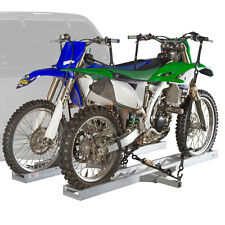 600 lb Hitch-Mounted Double Motorcycle & Dirt Bike Carrier with Ramp AMC-600-2