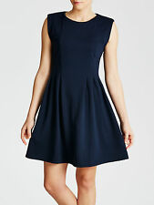 NEW + TAGS JOHN LEWIS * MINIMUM * BLUE IVALO JERSEY SKATER DRESS SIZE 8 RRP £65