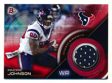 2015 BOWMAN ANDRE JOHNSON RED RELICS JERSEY HOUSTON TEXANS TRUE ONE OF ONE #1/1