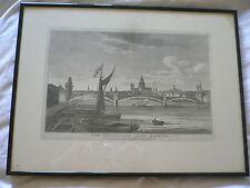 Incisione. il Ponte di Ferro Southwark. Richard Holmes Laurie. 1822