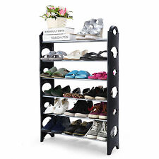 6 Tier Adjustable DIY Shoe Storage Rack Stand Organiser Shelf for 18 Pairs Shoes