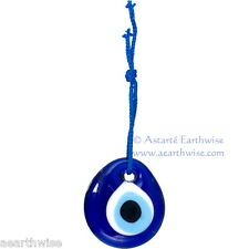 GLASS EVIL EYE TALISMAN 50 mm Wicca Pagan Witch Goth Spell PROTECTION & LUCK 347