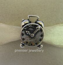 Genuine Authentic Pandora Sterling Silver Alarm Clock Charm 790449