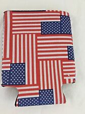 American Flag Can Coozie Patriotic Beer Cooler Americana Soda Cooler