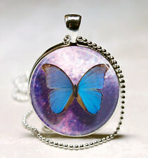 Blue Butterfly Necklace Butterflies,Insects,Entomology Blue And Pendant jewelry