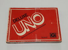 VIintage 1978 Deluxe Edition UNO card game with Tray Original Box COMPLETE R9972