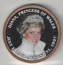 GREAT BRITAIN, PRINCESS DIANA DECAL, 1967,  LARGE CENT,  BRONZE,  UNCIRCULATED