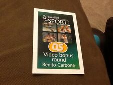 Benito Carbone / Football / Sheff Weds / A Question of Sport game card 1999