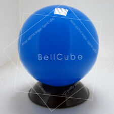 Myth Fluorescence Acrylic Crystal Contact Juggling ball 76mm 300g + Pouch Blue