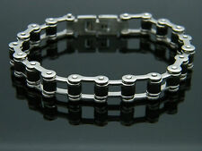LARGE BIKE CHAIN STAINLESS STEEL 316L MEN'S JEWELLERY BRACELET