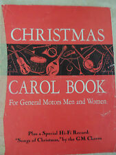 Christmas Carol book for General Motors Chormen and women GM Employee Giveaway