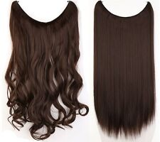 Secret Extensions Long Straight Curly Hair Extensions 1Pcs UK Human Favored T5D