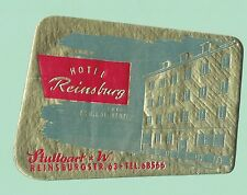 Hotel Reinsburg - Stuttgart, Germany -  Vintage Luggage Label