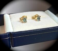 ALEXANDRITE EARRINGS 9CT YELLOW GOLD 0.53CT- NATURAL RARE GEMSTONES! BNWT