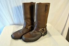 Men's Size 10M Wrangler Brown Leather Engineer Motorcycle Boots