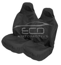 HEAVY DUTY BLACK WATERPROOF RUBBERLINED CAR SEAT COVERS BUCKET SEATS -PAIR