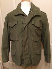 M-65 Jacket U.S. ARMY FIELD COAT  OG-107 w/ Hood  VIETNAM - MEDIUM SHORT