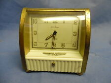 Art Deco Two Sided Faced 8 Day Alarm Clock Seth Thomas Jeweled Swiss Bakelite
