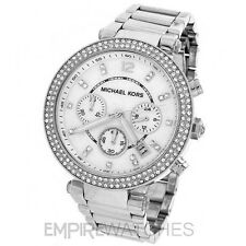 *NEW* MICHAEL KORS LADIES PARKER SWAROVSKI SILVER WATCH - MK5353 - RRP £209