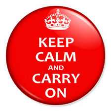 "Keep Calm And Carry On 25mm 1"" Pin Badge Button British WWII - Classic"