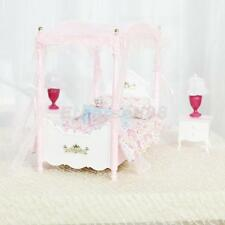 Bedroom Luxury Furniture Set Bed Table Lamp for Barbie Dolls House Miniature