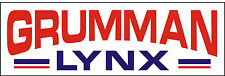 A045 Grumman Lynx Airplane banner hangar garage decor Aircraft signs