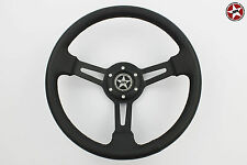 Stoney Racing Real Leather Steering Wheel Deep Dish fits Sparco/Momo/OMP Boss