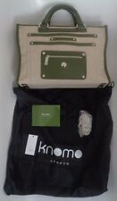 Knomo canvas and olive green trim laptop case / handbag NEW!!! £165