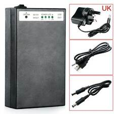 DC 5V/12V 2 In 1 USB Rechargeable 20000Mah Li-ion Battery Pack UK Adapter New