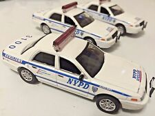 NYPD Crown Vic Interceptor Cop Car Lot of (3) Greenlight POLICE AUXILARY 3100