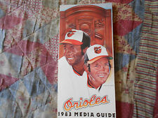 1983 BALTIMORE ORIOLES MEDIA GUIDE Yearbook WORLD CHAMPS! Press Book Program  AD