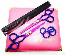"FW® - 6"" PROFESSIONAL BARBER HAIR DRESSING BARBER SCISSORS SHEARS BLUE MIST"