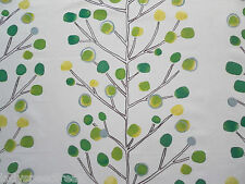 Harlequin Scion Curtain Fabric BERRY TREE 1.4m  Emerald/Lime/Chalk Design 140cm