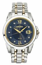 *BRAND NEW* Seiko Analog Two Tone Stainless Steel Automatic Men's Watch SNE428