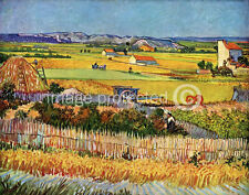 Vincent Van Gogh Art Poster Harvest At La Crau  18x24