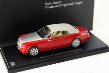 Rolls Royce Phantom Drophead Coupe Year Of Construction 2012 wnsign red 1:43