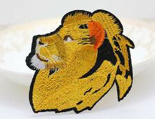 Lion Head Fabric Embroidered Cloth Iron On T-SHIRT JACKET HAT Patch Appliques
