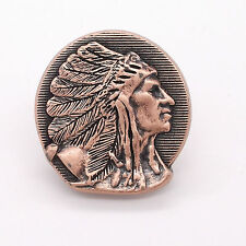 """Right Facing Chief Head Concho Antique Copper 1-1/4"""" 3666-10 by Stecksstore"""