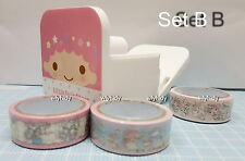 Sanrio Little Twin Stars My Melody Adhesive Tape + Holder Set
