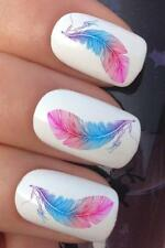 NAIL ART SET #696 x16 TRIBAL INDIAN FEATHERS WATER TRANSFERS DECALS STICKERS