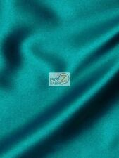 SOLID CREPE BACK SATIN FABRIC - Teal - BY THE YARD DRESS GOWN HOME DECOR BRIDAL